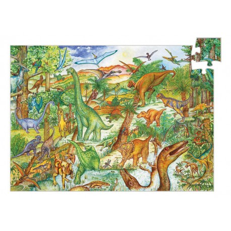 Puzzle observation : dinosaures