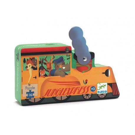 Puzzle silhouette : la locomotive