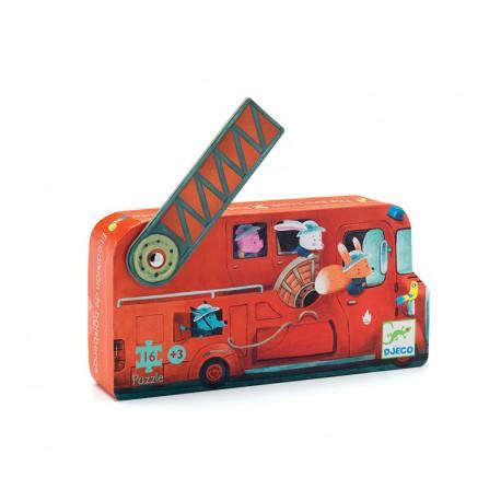 Puzzle silhouette : le camion de pompier