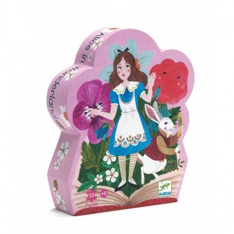 Puzzle silhouette : Alice au pays des merveilles