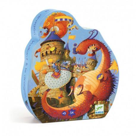 Puzzle silhouette : Vaillant & les dragons