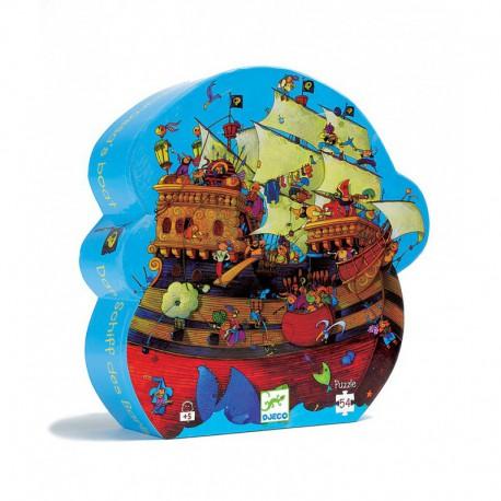Puzzle silhouette : le bateau de Barberousse