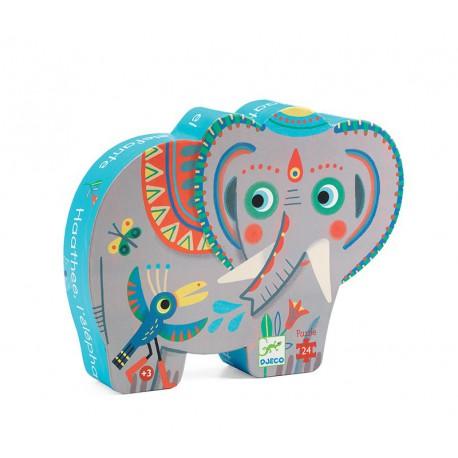 Puzzle silhouette : Haathee, éléphant d'Asie