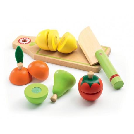 Imitation gourmandises : fruits et légumes à couper