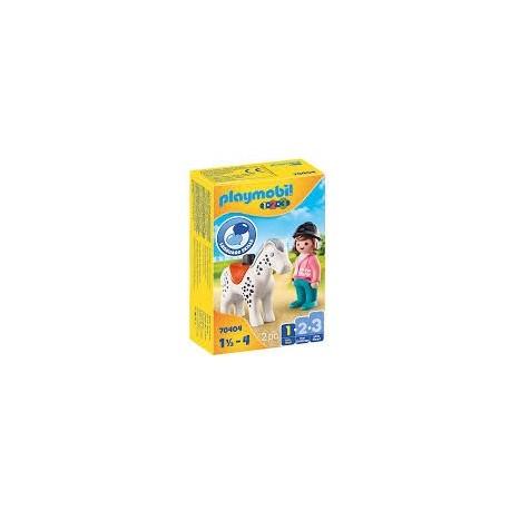 Playmobil 1.2.3 - Cavalière Avec Cheval