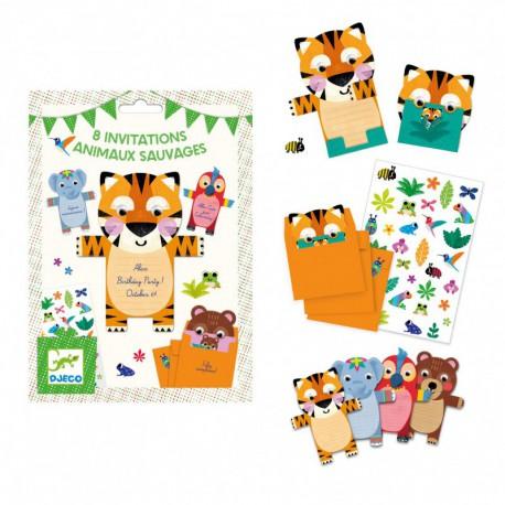 Cartes d'invitation : animaux