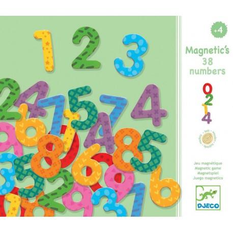 Magnétiques bois : 38 chiffres