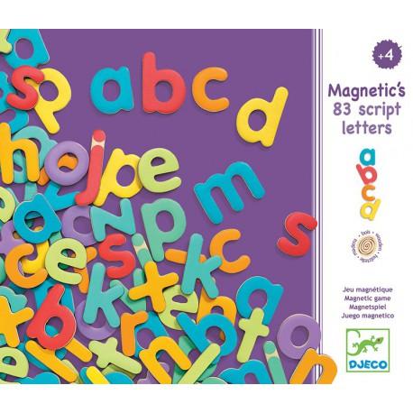 Magnétiques bois : 83 lettres