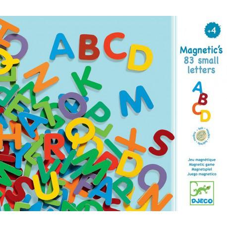 Magnétiques bois : 83 petites lettres
