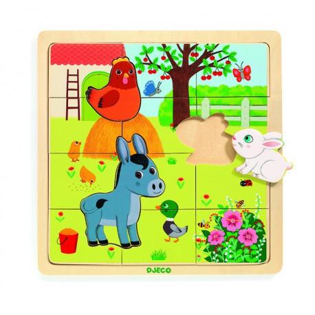 Puzzle éducatif bois : farm