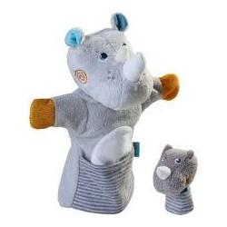 Marionette Rhinocéros Et Son Bébé