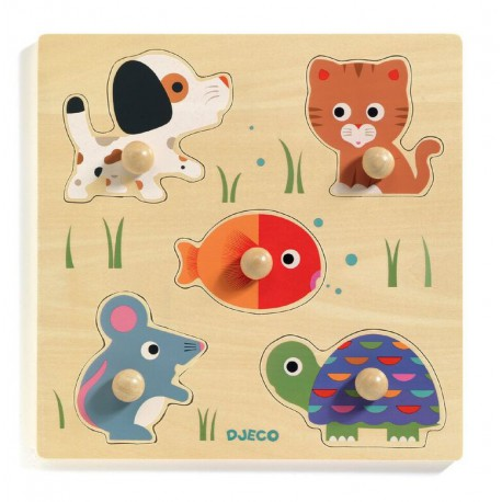 Puzzle gros boutons : bulle & co