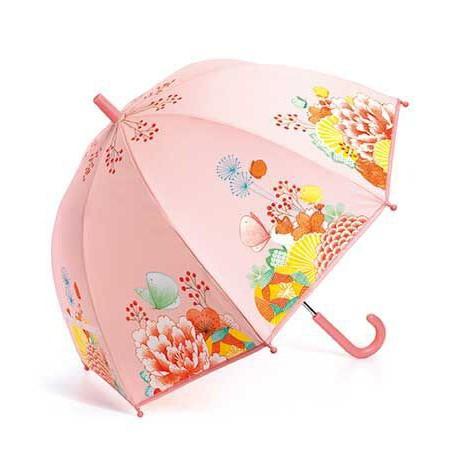 Parapluie : jardin fleuri