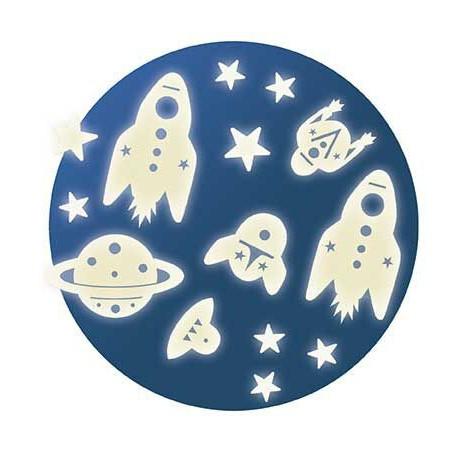 Décors phosphorescents : mission espace