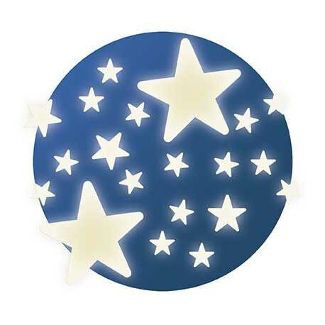 Décors phosphorescents : étoiles