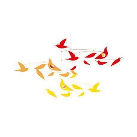 Mobile papier : des oiseaux en harmonie
