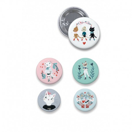 Lovely Badges : chats