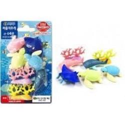 IWAKO - gomme - Aquarium Set (7 Pcs)