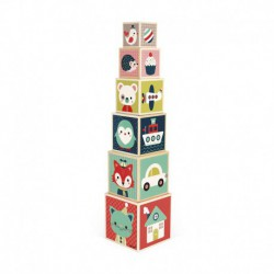 Pyramide 6 cubes : baby forest