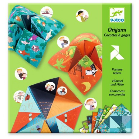 Origami : cocottes à gages animaux