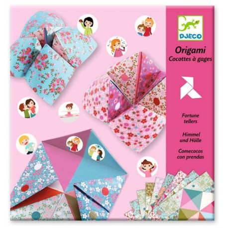 Origami : cocottes à gages fleurs