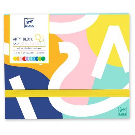 Arty block : papier coloré