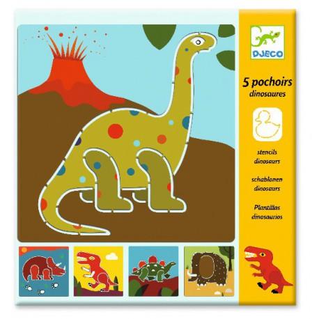 Pochoirs : dinosaures