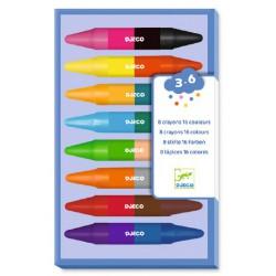 8 crayons doubles côtés