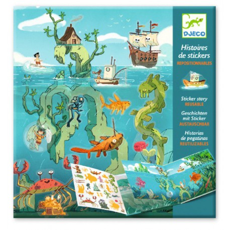 Stickers : les aventures en mer
