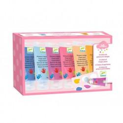 6 tubes de peinture à doigts Sweet