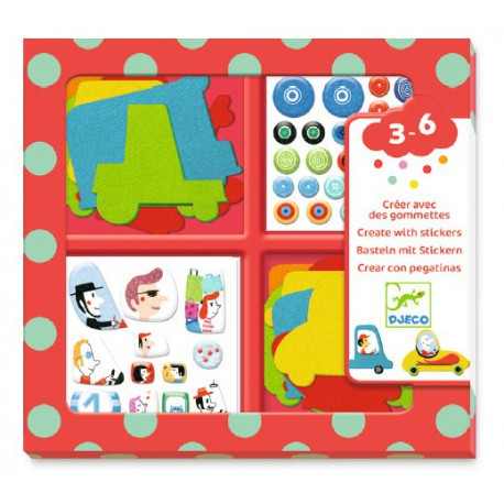 Stickers des petits : j'aime les voitures