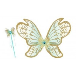 Souza - Set baguette magique et ailes - Couleur menthe : Jeanne