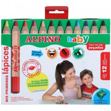 Alpino - Etui 12 crayons de couleur