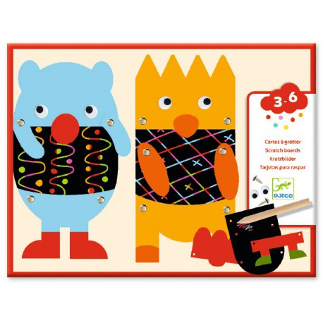 Cartes à gratter des petits : gratte les petits monstres