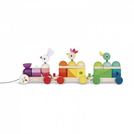 Train géant multicolor : zigolos