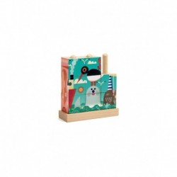 Djeco - Puzzle en bois : Puzz-up La Mer
