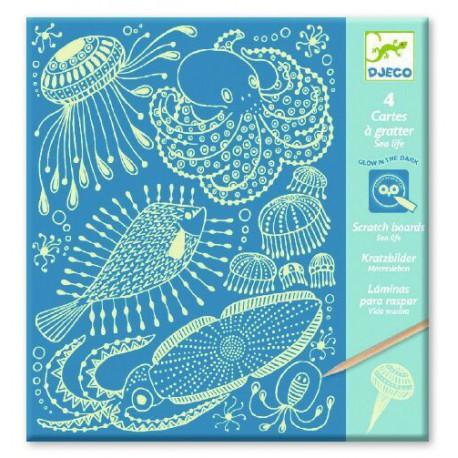 Cartes à gratter : sea life