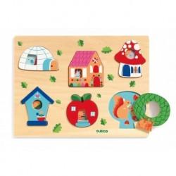 Djeco - Puzzle en bois : Coucou-Vroum