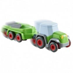 Haba - Kullerbü Toboggan : Tracteur avec remorque