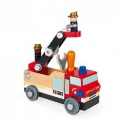 Janod - Camion pompiers Brico'Kids