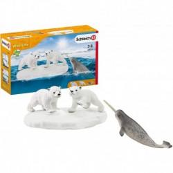 Schleich - Wild life : Glissade en folie des ours polaires