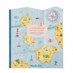 Moulin Roty - Cahier stickers : L'explorateur - Le jardin du Moulin