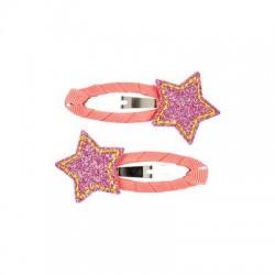 Souza - Pinces à cheveux : Agathe - Etoiles corail/rose