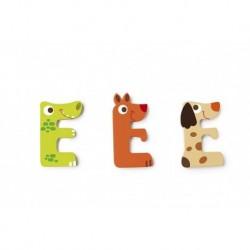 Scratch - Lettre en bois 'E'