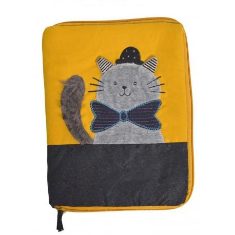 Les Moustaches : protège carnet de santé chat gris