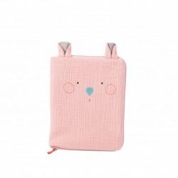 Les Jolis trop beaux : protège carnet de santé souris rose