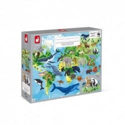 Janod - Puzzle Educatif : Les espèces prioritaires WWF - 350 pcs