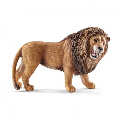 Lion rugissant