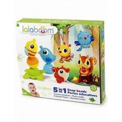 Lalaboom - Coffret 3 animaux + 8 perles et accessoires - 25 pcs