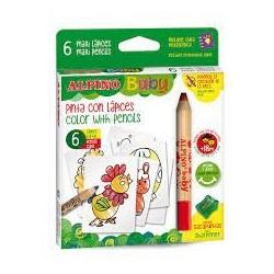 ALPINO - Boîte 6 crayons gouache